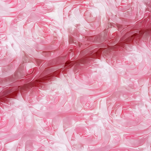 "Wedding Party Wonderland Rosette Fabric Bolt By Yard - Pink - 54"" x 4 Yards"