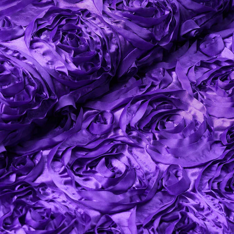 "Wedding Party Wonderland Rosette Fabric Bolt By Yard - Purple - 54"" x 4 Yards"