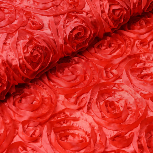 "Wedding Party Wonderland Rosette Fabric Bolt By Yard - Red - 54"" x 4 Yards"