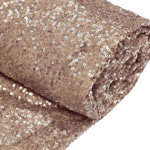 54 Quot X 4yards Premium Sequin Fabric Bolt Rose Gold