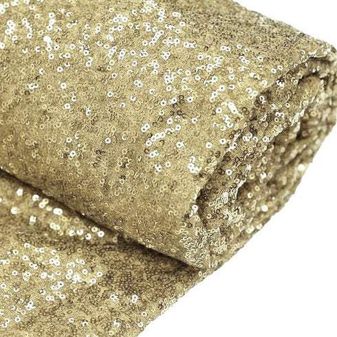 "54"" x 4 Yards Champagne Premium Sequin Fabric Bolt"