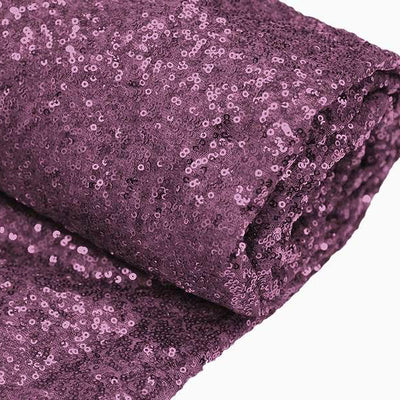 "54"" x 4 Yards Eggplant Premium Sequin Fabric Bolt"