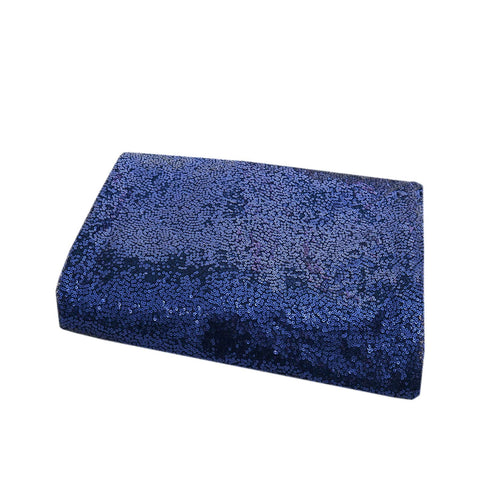 "54"" x 4 Yards Navy Blue Premium Sequin Fabric Bolt"