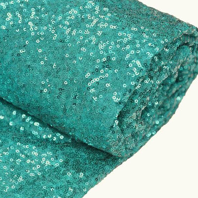 "54"" x 4 Yards Turquoise Premium Sequin Fabric Bolt"