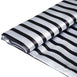 "54"" x 10 Yards Black/White Satin Stripe Fabric Bolt"