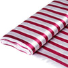 "54"" x 10 Yards Fushia/White Satin Stripe Fabric Bolt"