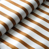 "Elegant Party Dress Satin Stripe Fabric Bolt By Yard - Gold/White - 54""x10 Yards"