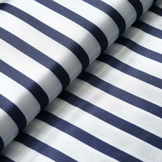 "Elegant Party Dress Satin Stripe Fabric Bolt By Yard - Navy/White - 54""x10 Yards"