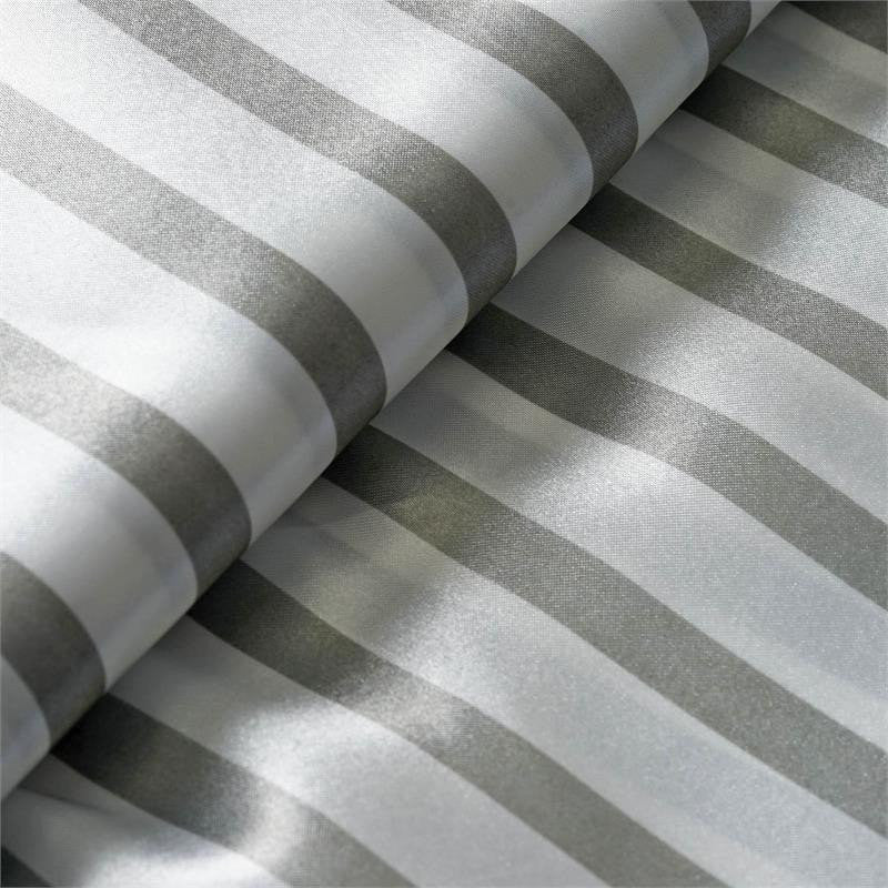 "Elegant Party Dress Satin Stripe Fabric Bolt By Yard - Silver/White - 54""x10 Yards"