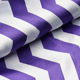 "Jazzed Up Satin Designer Wedding Party Fabric Bolt By Yard - Purple/White- 54""x10 yards"