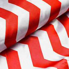"Jazzed Up Satin Designer Wedding Party Fabric Bolt By Yard - Red/White- 54""x10 yards"