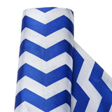 "Jazzed Up Satin Designer Wedding Party Fabric Bolt By Yard - Royal Blue/White- 54""x10 yards"