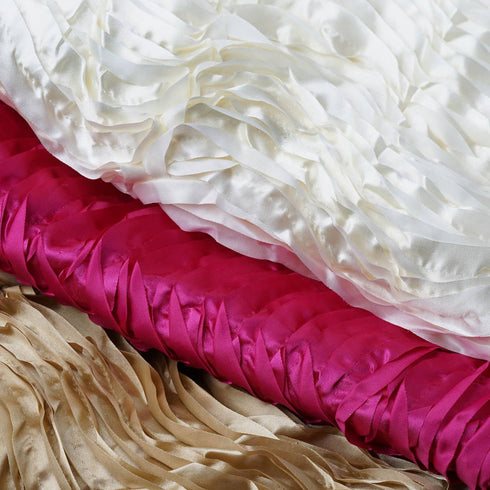 "Beverly Hills Style Fabric Bolt 54"" x 4 yards Fushia Satin Waves"