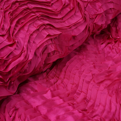 "54"" x 4 Yards Fushia Wave Satin Fabric Bolt"