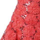 "Exquisite Couture Wedding Party Sequin Tulle Fabric Bolts By Yard - Coral - 54"" x 4 yards"