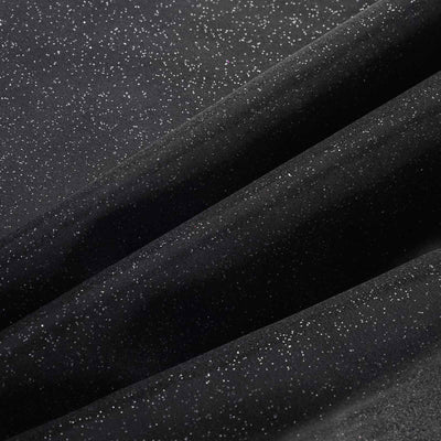 "Wedding Party Craft Organza Fabric Bolt By Yard With Glitters - 54""x10 Yards - Black"