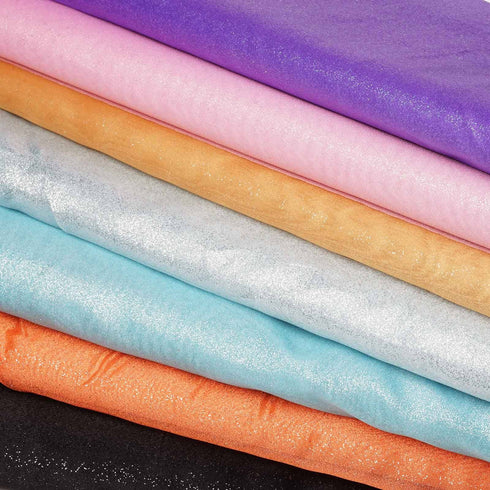 "Wedding Party Craft Organza Fabric Bolt By Yard With Glitters - 54""x10 Yards - Orange"