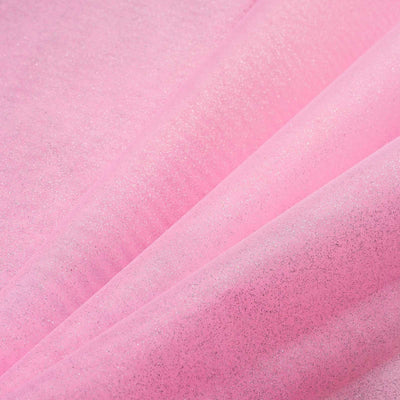 "Wedding Party Craft Organza Fabric Bolt By Yard With Glitters - 54""x10 Yards - Pink"