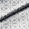 "10 Yards 54"" Silver/White Zen Patterns Designer Satin Fabric Bolt"