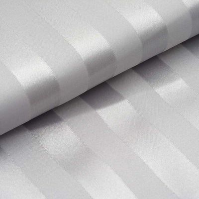"54"" x 10 Yards White Satin Stripe Fabric Bolt"