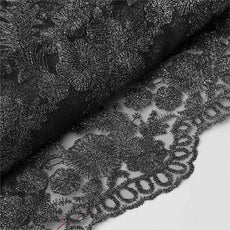 "ELEVATED LUXURY Embroider Fabric Bolt 54"" x 4 yards Black"