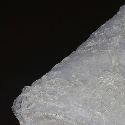 "Haute Couture Floral Tulle Fabric Bolt 54"" x 4yds - White"