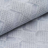 "Scintillating Checkered Fabric Bolt White / Silver 54"" x 4 yards"