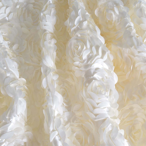 "Paradise Rosette Fabric Bolt  54"" x 4 yards - Ivory"