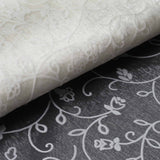 "Velvet Embroidery On Organza Wedding Dress Fabric Bolt By Yard - Ivory - 54"" x 10Yards"