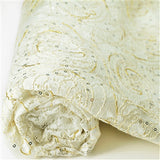 "Floral Constellation Lace Fabric Bolt 54"" x 4 yards - White"