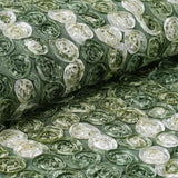 "Ballroom Mini-Rosettes Fabric Bolt - 54"" x 4 yards - Moss / Willow / Cream"