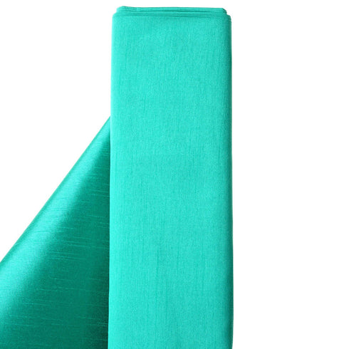 "Premium Slub Polyester Wedding Dress Fabric Bolt By Yard - Emerald - 54""x10 Yards"