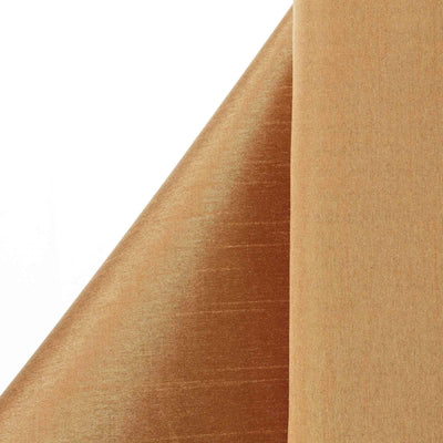 "Premium Slub Polyester Wedding Dress Fabric Bolt By Yard - Gold - 54""x10 Yards"