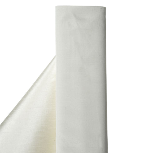 "Premium Slub Polyester Wedding Dress Fabric Bolt By Yard - Ivory - 54""x10 Yards"