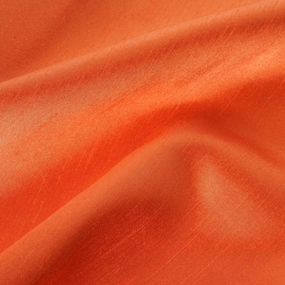 "Premium Slub Polyester Wedding Dress Fabric Bolt By Yard - Orange - 54""x10 Yards"