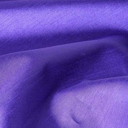 "Premium Slub Polyester Wedding Dress Fabric Bolt By Yard - Purple - 54""x10 Yards"
