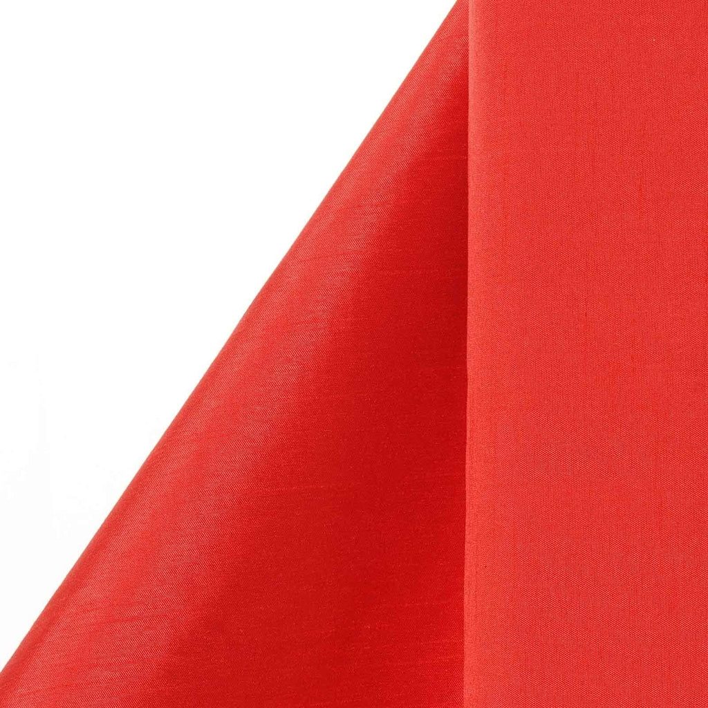 "Premium Slub Polyester Wedding Dress Fabric Bolt By Yard - Red- 54""x10 Yards"