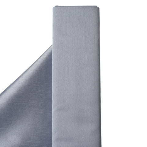 "Premium Slub Polyester Wedding Dress Fabric Bolt By Yard - Silver - 54""x10 Yards"