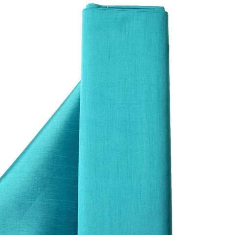 "Premium Slub Polyester Wedding Dress Fabric Bolt By Yard - Turquoise - 54""x10 Yards"