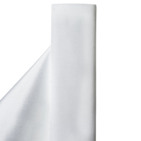 "Premium Slub Polyester Wedding Dress Fabric Bolt By Yard - White - 54""x10 Yards"