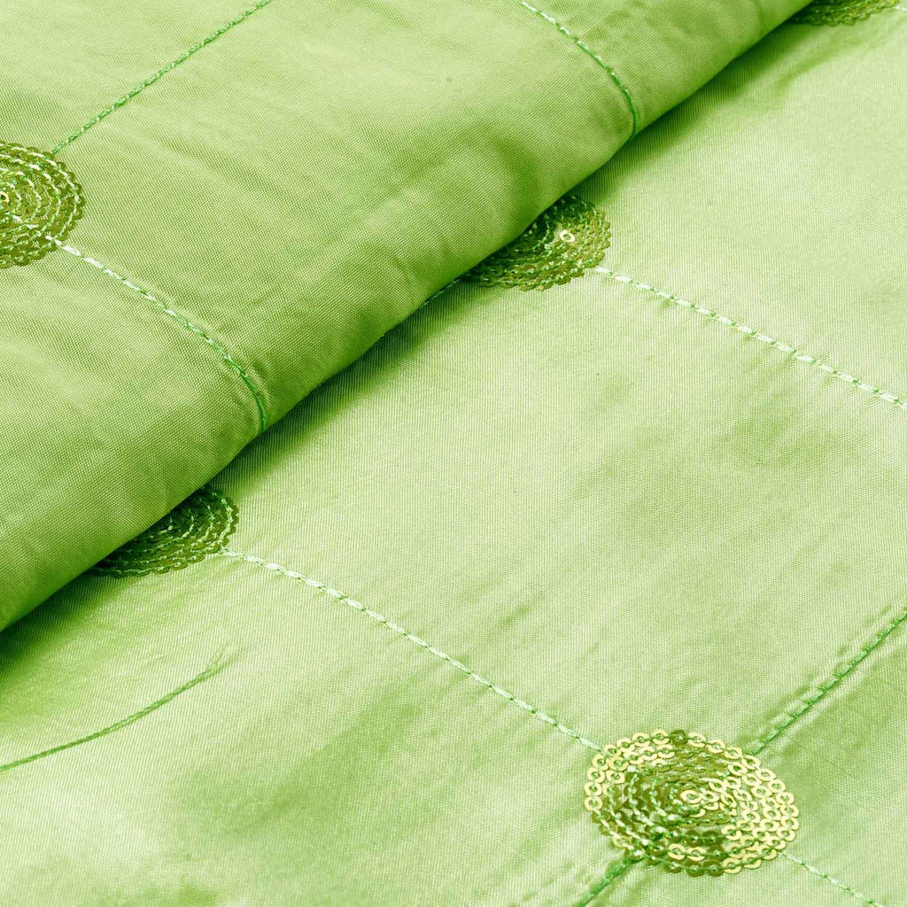 "Taffeta Sequin Fabric Bolt 54"" x 5yards Apple Green"