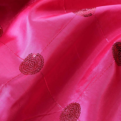 "Taffeta Sequin Fabric Bolt 54"" x 5yards Fushia"