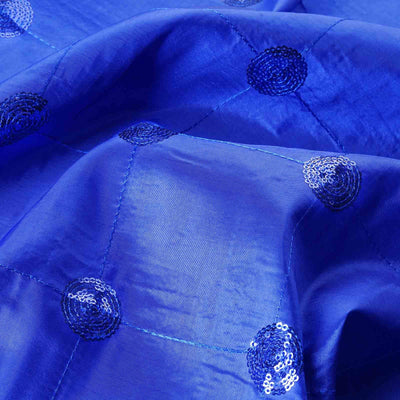 "Taffeta Sequin Fabric Bolt 54"" x 5yards Royal Blue"