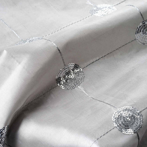 "Taffeta Sequin Fabric Bolt 54"" x 5yards Silver"