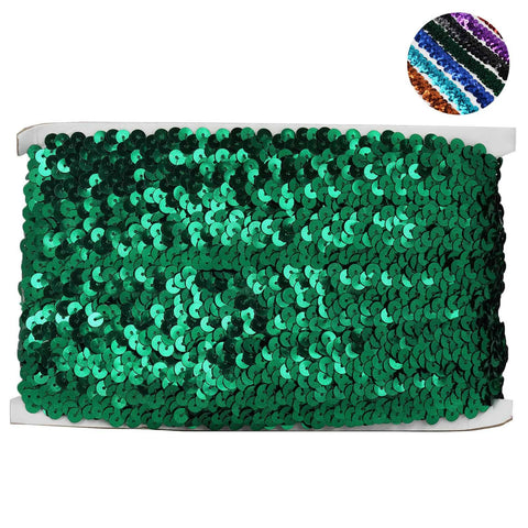 "3/4"" Regalia Sequin Ribbon 10 Yards Emerald"