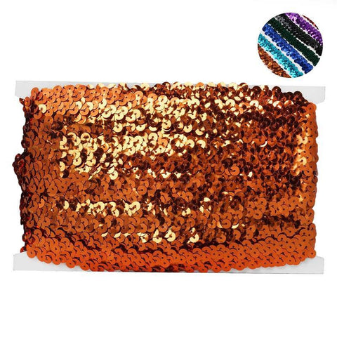 "3/4"" Regalia Sequin Ribbon 10 Yards Orange"