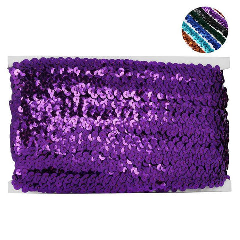 "3/4"" Regalia Sequin Ribbon 10 Yards Purple"
