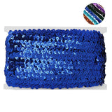 "3/4"" Regalia Sequin Ribbon 10 Yards Royal Blue"
