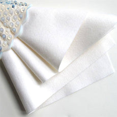 Wholesale Decorative Craft Felt Sheet - White - 10 PCS