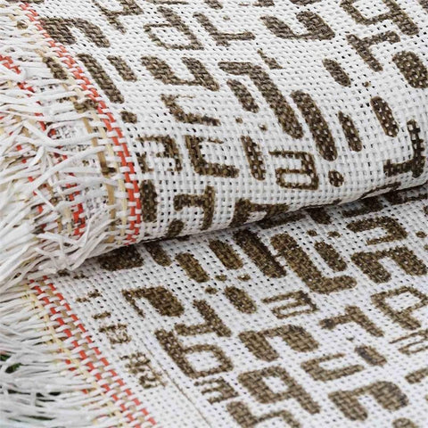 "Premium Raffia Picnic Party Upholstery Fabric Bolt By Yard - CHOCOLATE/IVORY - 54"" x 4 Yards"